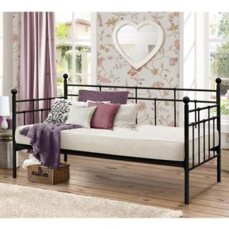 An Image of Lyon Steel Daybed In Black