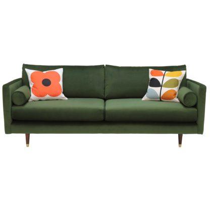 An Image of Orla Kiely Mimosa Large Sofa, Plain Velvet