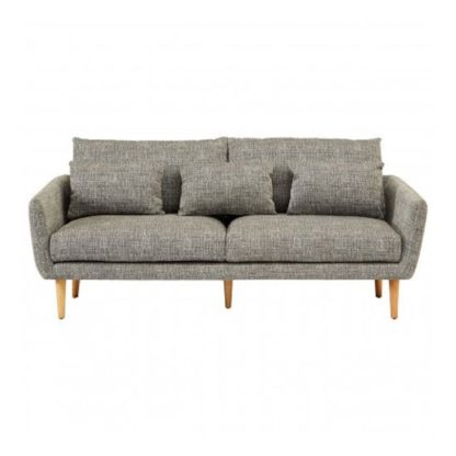 An Image of Altos 3 Seater Fabric Sofa In Grey