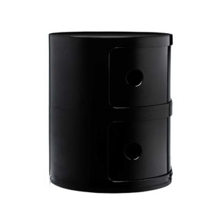 An Image of Kartell Componibili 2 Drawer Storage Unit, Black