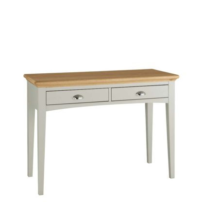An Image of Carrington Dressing Table, Soft Grey and Oak