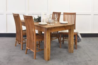 An Image of Lifestyle Dining Table & Madura Chairs Bundle