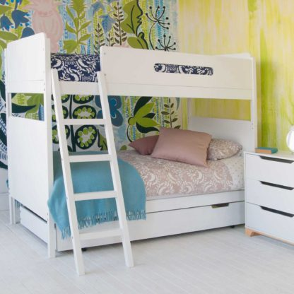 An Image of Clancy Childrens Bunk Bed With Trundle