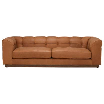 An Image of Whitman Split Frame 4 Seater Leather Sofa
