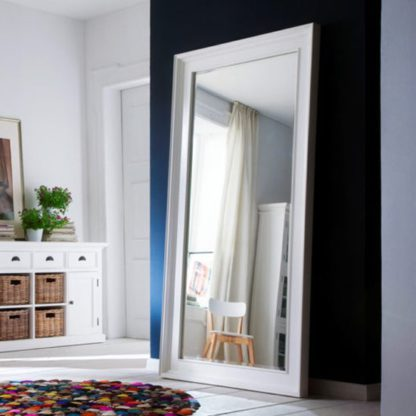 An Image of Allthorp Grand Bedroom Mirror In Classic White