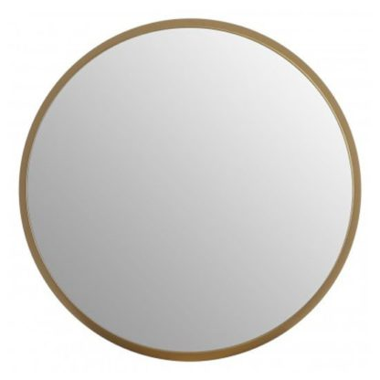 An Image of Athens Large Round Wall Bedroom Mirror In Gold Frame