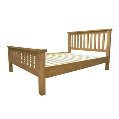 An Image of Cyprian Wooden Kids High End Bed In Chunky Pine
