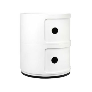 An Image of Kartell Componibili 2 Drawer Storage Unit, White