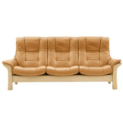 An Image of Stressless Buckingham High Back 3 Seater, Choice of Leather