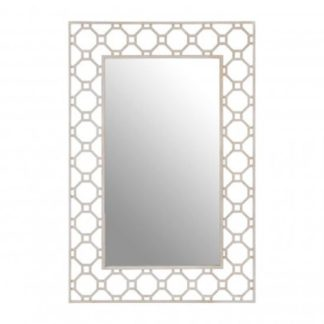 An Image of Zaria Arabesque Wall Bedroom Mirror In Antique Silver Frame