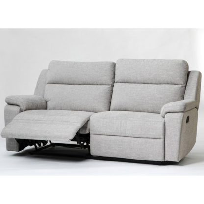 An Image of Jackson Fabric 3 Seater Recliner Sofa In Beige