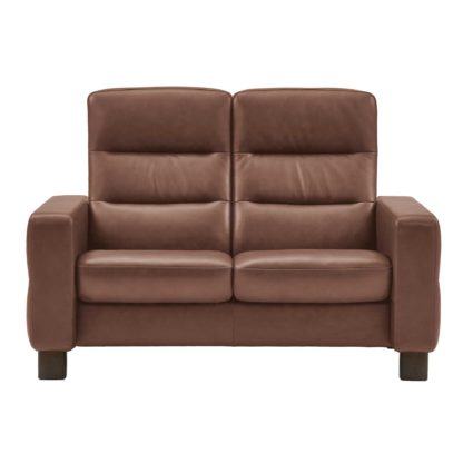 An Image of Stressless Wave High Back 2 Seater Sofa, Leather