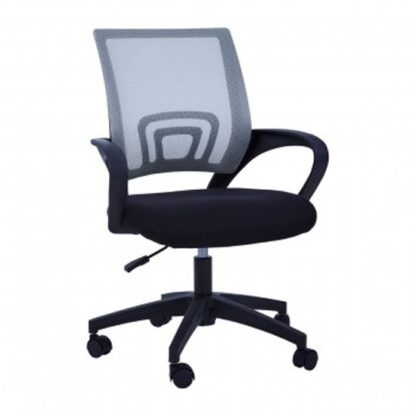 An Image of Velika Home And Office Chair In Grey With Armrest