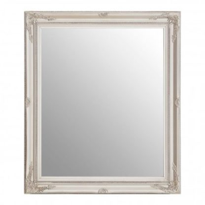 An Image of Classily Wall Bedroom Mirror In Silver Frame