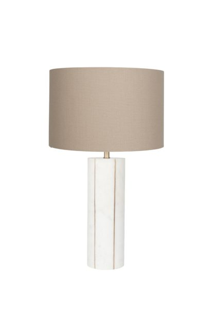 An Image of Peyrou Table Lamp - Marble and Gold Metal