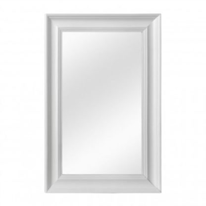 An Image of Urbana Wall Bedroom Mirror In Cool White Frame