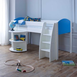 An Image of Eli B Childrens Midsleeper Bed with pull out Desk