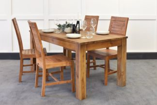 An Image of Lifestyle Dining Table & Oasis Chairs Bundle