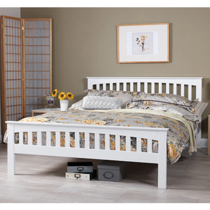 An Image of Amelia Hevea Wooden Small Double In Opal White