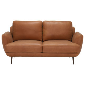 An Image of Pax Leather Love Seat