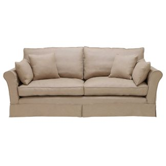 An Image of Berkeley Fabric Loose Covers Large Sofa