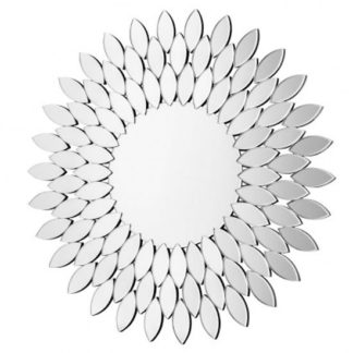 An Image of Sylvania Sunburst Effect Wall Bedroom Mirror In Clear Frame