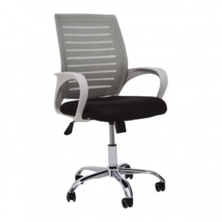 An Image of Bicot Home And Office Chair With Armrests In Grey