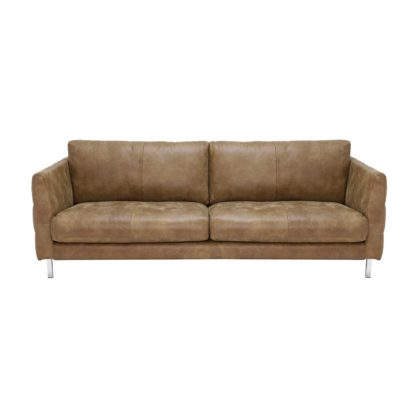 An Image of Lars 3 Seater Leather Sofa
