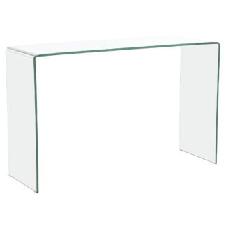 An Image of Bridge Glass Console Table, Clear
