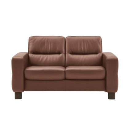 An Image of Stressless Wave Low Back 2 Seater Sofa, Leather