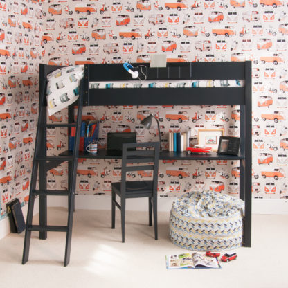 An Image of Pippin Childrens Highsleeper with Full Length Desk