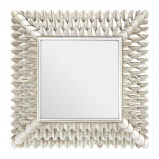 An Image of Sally Feather Design Wall Bedroom Mirror In Luxurious Gold Frame