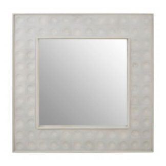 An Image of Santeria Square Wall Bedroom Mirror In Weathered White Frame