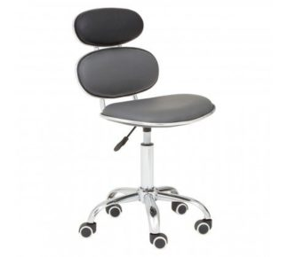 An Image of Netoca Home And Office Leather Chair In Black And Grey
