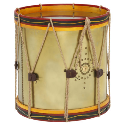An Image of Timothy Oulton Regiment Drum Side Table, Oxidised Brass