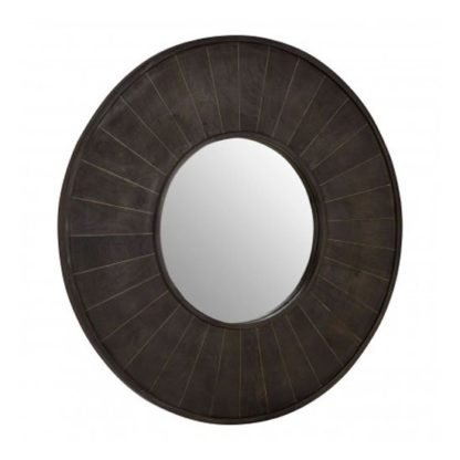 An Image of Nikawiy Wall Bedroom Mirror In Antique Brass Frame