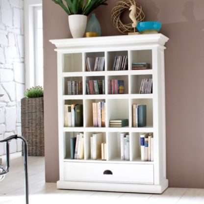 An Image of Allthorp Medium DVD Storage Stand In Classic White