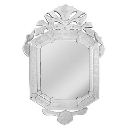 An Image of Venetians Rectangular Wall Bedroom Mirror In Silver Frame
