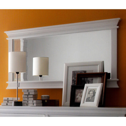 An Image of Allthorp Landscape Bedroom Mirror In Classic White