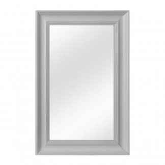 An Image of Urbana Wall Bedroom Mirror In Cool Matte Grey Frame