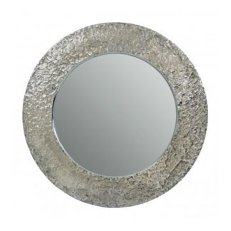 An Image of Almory Wall Bedroom Mirror In Nickel Frame
