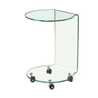 An Image of Azurro Contemporary Glass Lamp Table