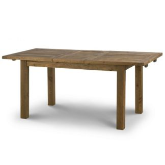 An Image of Alecia Wooden Extending Dining Table In Rough Sawn Pine