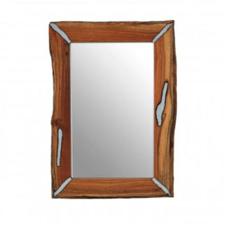 An Image of Almory Wall Bedroom Mirror In Natural Frame