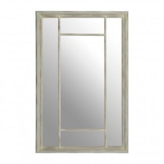 An Image of Sofia Rectangular Wall Bedroom Mirror In Chinese Oak Frame