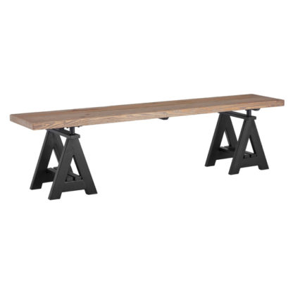 An Image of Hampro Wooden Dining Bench In Natural