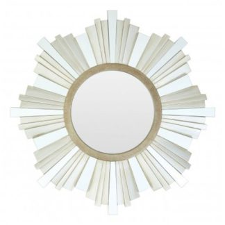 An Image of Sorel Strip Design Wall Mirror In Gold And Champagne Frame