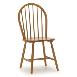 An Image of Windsor Wooden Dining Chair In Honey