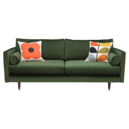 An Image of Orla Kiely Mimosa Medium Sofa, Plain Velvet
