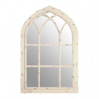 An Image of Sake Window Design Wall Bedroom Mirror In Chinese Oak Frame
